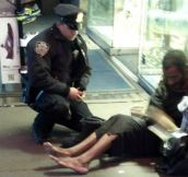 NY Police Officer Who Bought Homeless Man Boots Receives Promotion