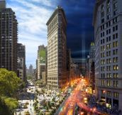 Day and Night in New York City Captured in Single Images