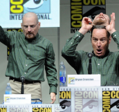 This is the moment when Bryan Cranston took off his Walter White mask at Comic-Con 2013. It's like Mission Impossible in real-life.