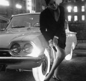 These illuminated tires were developed by Goodyear in 1961