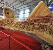 Zheng Chunhui's record breaking sculpture