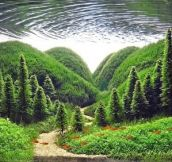 Your Eyes Are Deceiving You In The Most Incredible Way. Look Closer… This Isn't A Normal Forest.