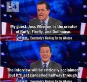 Joss Whedon on Colbert report