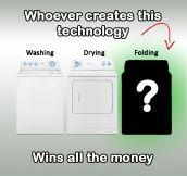 Washing. Drying. Folding?