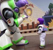Buzz Lightyear meets his son!