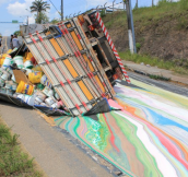 When a paint truck crashes