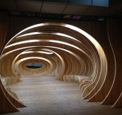 Public Wooden Rest Space in Seoul Korea
