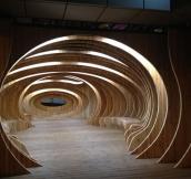 Public Wooden Rest Space in Seoul Korea