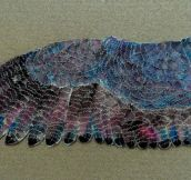 Someone I went to school with made a wing using pencil sharpenings and ink