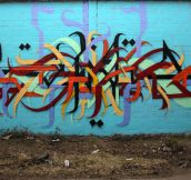 Excellent depth to this street art in Berlin