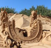 Stargate sand sculpture