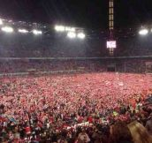 German football team FC Koln pitch invasion after winning promotion