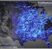 50 years of tornado tracks
