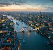 London at dusk!