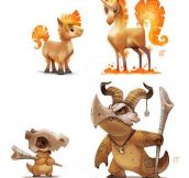Pokemon Re-imagined By Piper Thibodeau