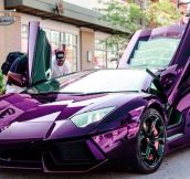 Badass Purple Lamborghini That Would Make Prince Go Nuts