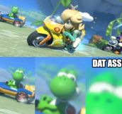 Yoshi has his priorities in line.