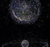 Every single satellite orbiting Earth, in a single image