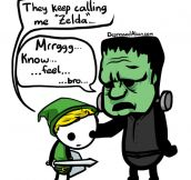 Zelda and Frankenstein Commiserate
