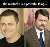 Ron Swanson Before Mustache