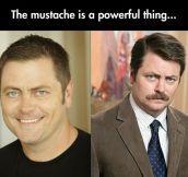 Ron Swanson Before Mustache