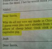 A Sincere Letter To Santa