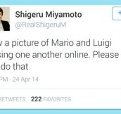 Miyamoto Request To The Internet