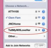 Touching WiFi Names