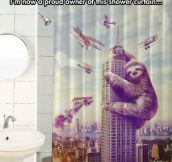 King Sloth Curtain