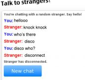 Chatting With a Random Stranger