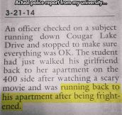 Actual Police Report From a University