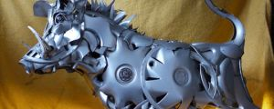 Animal Sculptures From Car Parts