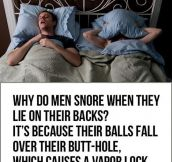 Men Snoring Explained