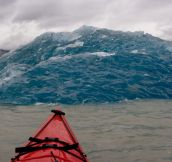 Bottom of an iceberg that just rolled over