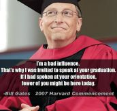 Bill Gates At Harvard's Commencement