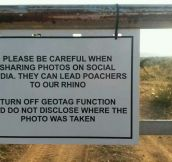 Geotaging and Poaching