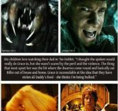 Martin freeman on his kids watching the hobbit