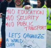 Protester in Brazil