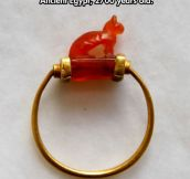 Awesome Egyptian Cat Ring