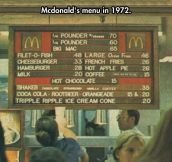 Mcdonald's Old Menu