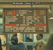 Mcdonald's Old Menu