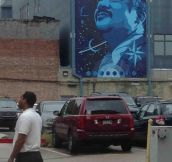 Neil deGrasse Tyson Graffiti In Downtown Baton Rouge