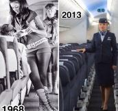 Stewardess 1968 Vs. 2013