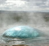 Amazing Geyser In Iceland