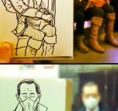 Great Artist Turns Everyday Scenes Into Sketches