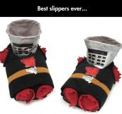 Monty Python Black Knight Slippers