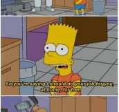 My Favorite Bart Simpson Quote