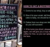 Slogan Of a Cafe In Taiwan