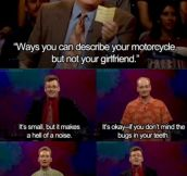 Some Little Differences Between Motorcycles and Girlfriends