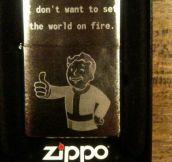 Pip Boy Zippo